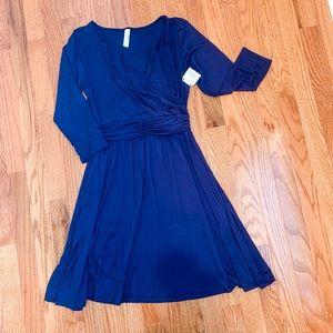 NWT Loveapella Plum Wrap Dress size XS